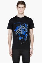 LANVIN Black Beetle Graphic T-Shirt for men