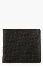 PIERRE HARDY Black Leather Cube-Embossed Bifold Wallet for men