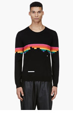 BAND OF OUTSIDERS Black Wool Breakout Atari Edition Crewneck Sweater for men