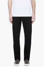 LANVIN Black Textured Lounge Pants for men