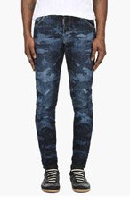 DSQUARED2 Blue Camo Jeans for men