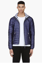 DUVETICA Deep purple quilted Acelo jacket for men
