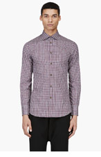 DSQUARED2 Red Plaid Slim Shirt for men