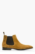 PS PAUL SMITH Camel Suede Falconer Chelsea Boots for men