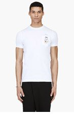 DSQUARED2 White Tiger Pocket T-Shirt for men