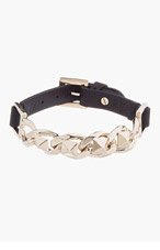 VALENTINO Black Chain & Stud Bracelet for men
