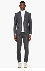 DSQUARED2 Grey Plaid Suit for men