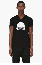 MAISON MARTIN MARGIELA Black Snow Globe T-Shirt for men