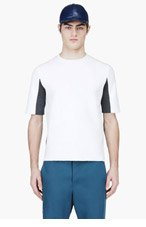 MARNI White & Grey Crewneck Sweater for men