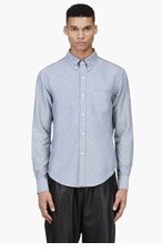 BAND OF OUTSIDERS Light Grey Chambray Shirt for men