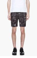 CALVIN KLEIN COLLECTION Black Digital Water Print Shorts for men