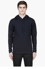 PUBLIC SCHOOL Black Long ripple Hoodie for men