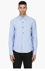 BAND OF OUTSIDERS Blue TRAPPED BIB 2003 shirt for men