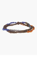 DSQUARED2 Brown & blue MULTI BEADED Anklet for men