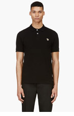 PAUL SMITH JEANS Black Cotton Piqu� Zebra Logo Polo for men