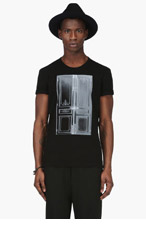 MAISON MARTIN MARGIELA Black Door Graphic T-Shirt for men