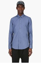MAISON MARTIN MARGIELA Blue Classic Shirt for men