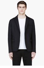 MARNI Black Sheen Relaxed Blazer for men