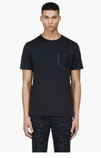 PAUL SMITH JEANS Black Trimmed Pocket T-shirt for men