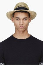 LANVIN Golden STRAW Panama HAT for men