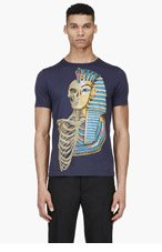 PAUL SMITH JEANS Navy Egyption Skull T-Shirt for men