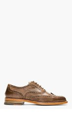 PS PAUL SMITH Brown Leather Knight Brogues for men