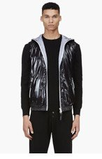 DUVETICA Black Hooded Down Anceo Vest for men
