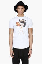 DSQUARED2 White Tribal Girl Graphic T-Shirt for men
