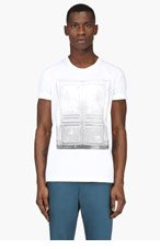 MAISON MARTIN MARGIELA White Door Graphic T-Shirt for men
