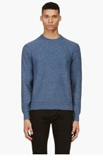 PAUL SMITH JEANS Slate Blue Confetti Slub Crewneck Sweater for men