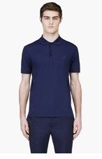 LANVIN Navy Sneaker Logo Polo for men