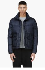 PAUL SMITH JEANS Navy Puff Jacket for men