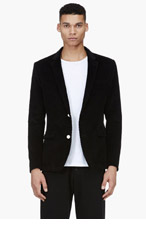 BAND OF OUTSIDERS Black Corduroy Schoolboy Blazer for men