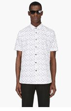 SAINT LAURENT White drip print shirt for men