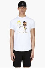 DSQUARED2 White Graphic T-Shirt for men