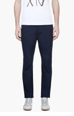 MARNI Navy Cropped Trousers for men