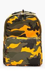 VALENTINO Orange Camo Backpack for men