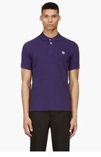 PAUL SMITH JEANS Purple Cotton Piqu� Zebra Logo Polo for men