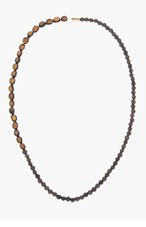 DSQUARED2 Brown wooden BEADED NECKLACE for men
