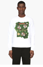 DSQUARED2 White Monkey Graphic Sweater for men