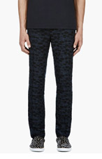 LANVIN Black Embroidered Trousers for men