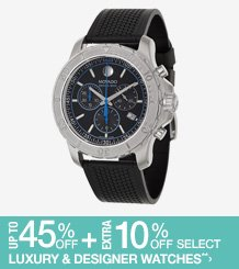 Up to 45% off + Extra 10% off Select Designer Watches**