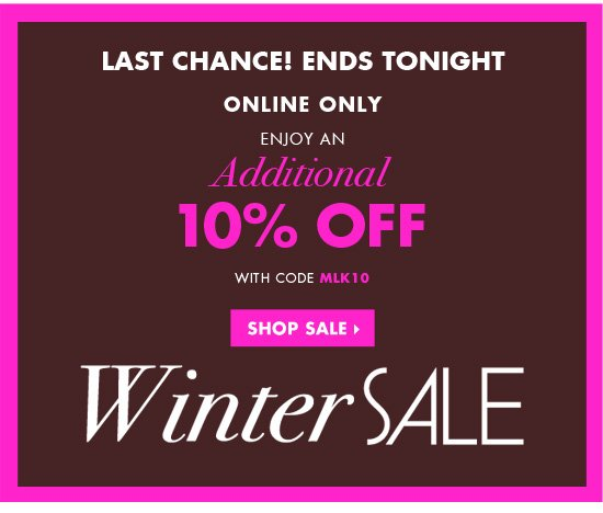 WINTER SALE - LAST CHANCE