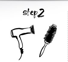 Step 2: Blow-dry using a round brush.