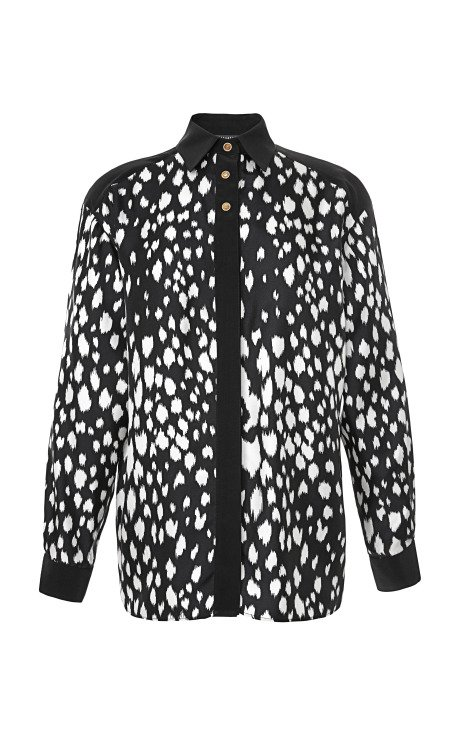 Abstract Animal Spots Blouse