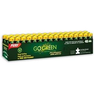Adorama - PerfPower AA Alkaline Batteries - 48 Pack (Bonus: FREE Earbuds (a $19.99 Value)
