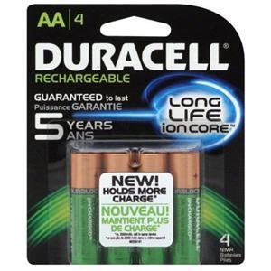 Adorama - Duracell Rechargeable AA NiMH Batteries with Duralock Power Preserve Technology