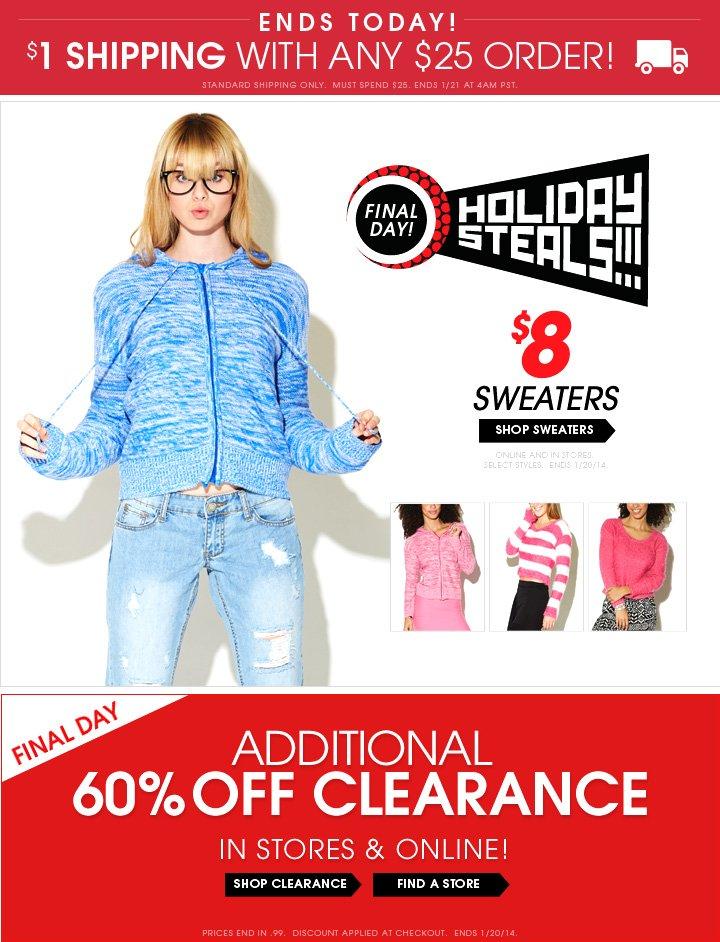 Shop $8 Sweaters