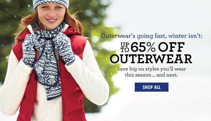 up to 65% off Outerwear