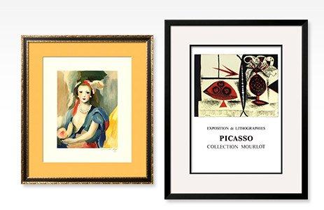 Female Bust By: Marie Laurencin; Composition au Vase de Fleurs By: Pablo Picasso